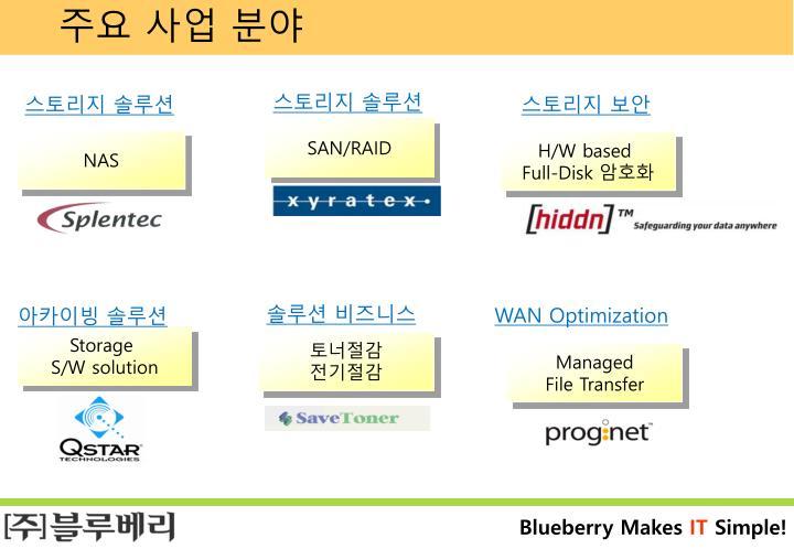 주요 사업 분야