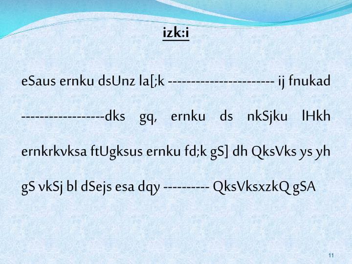 izk:i