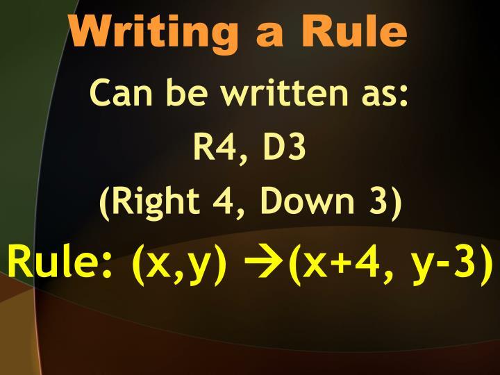 Writing a Rule