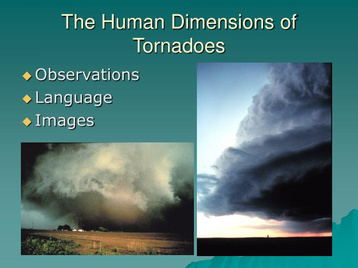 The Human Dimensions of Tornadoes