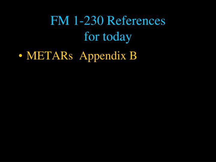 FM 1-230 References
