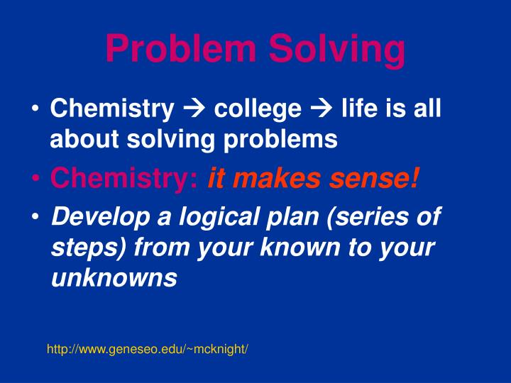Chemistry Solved Problems