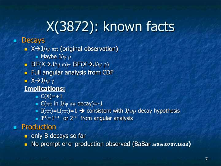 X(3872): known facts