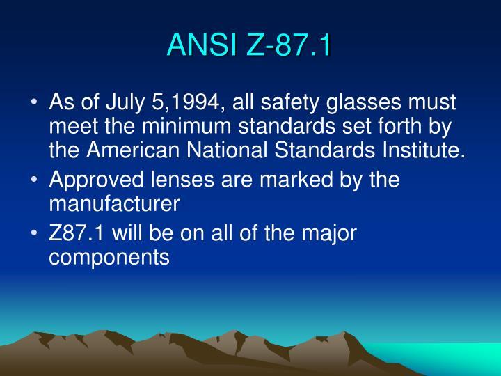 ANSI Z-87.1
