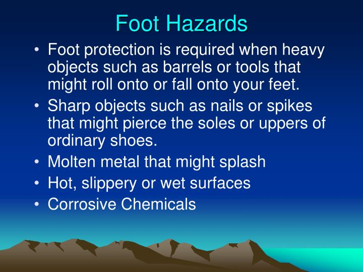Foot Hazards