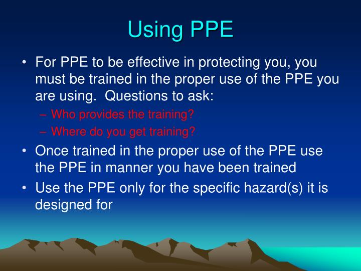 Using PPE