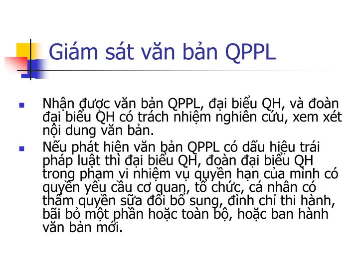 Giám sát văn bản QPPL
