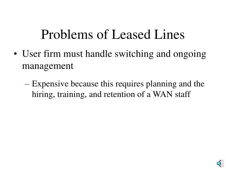 Problems of Leased Lines