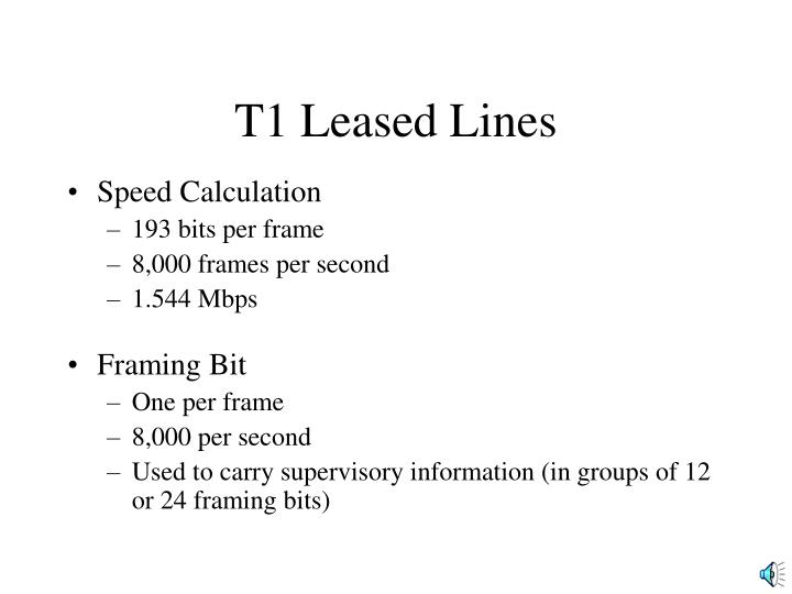 T1 Leased Lines