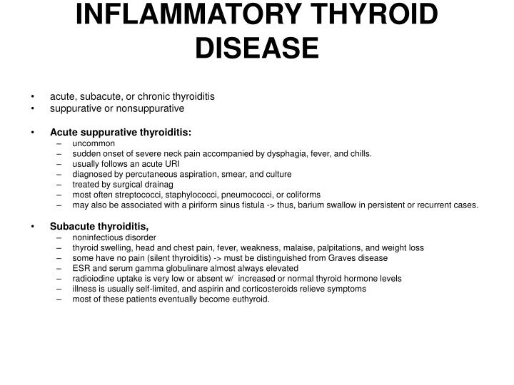 INFLAMMATORY THYROID DISEASE