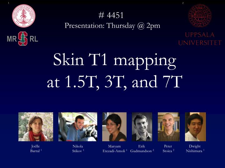 Skin t1 mapping at 1 5t 3t and 7t