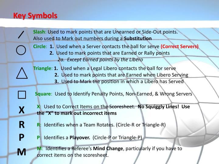 Key Symbols