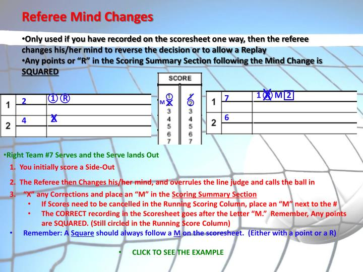 Referee Mind Changes