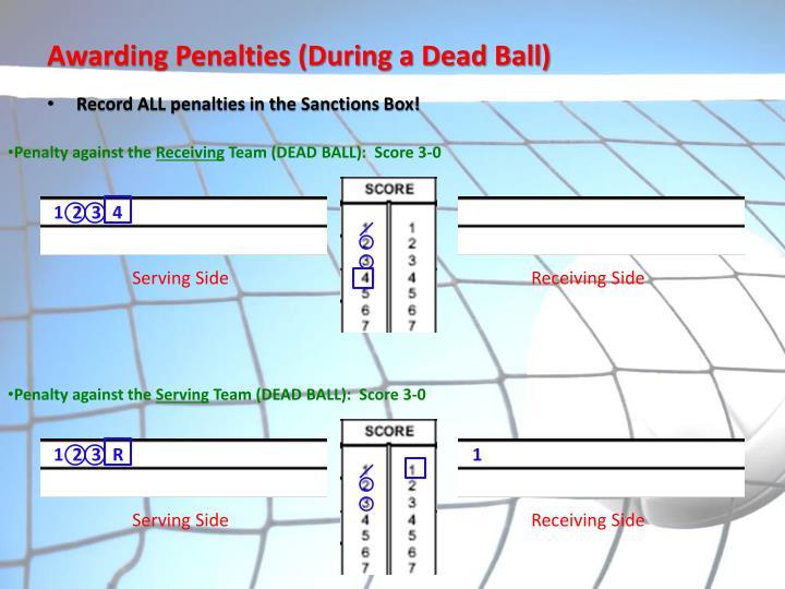 Awarding Penalties (During a Dead Ball)