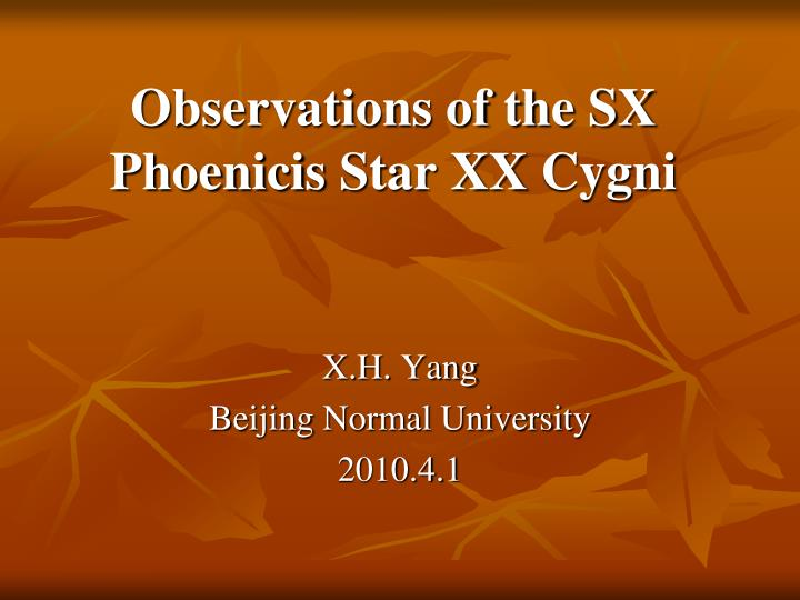 Observations of the sx phoenicis star xx cygni