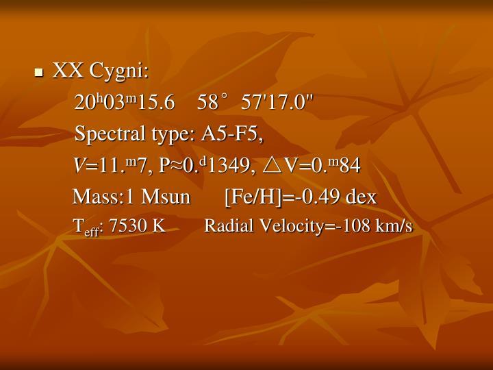 XX Cygni: