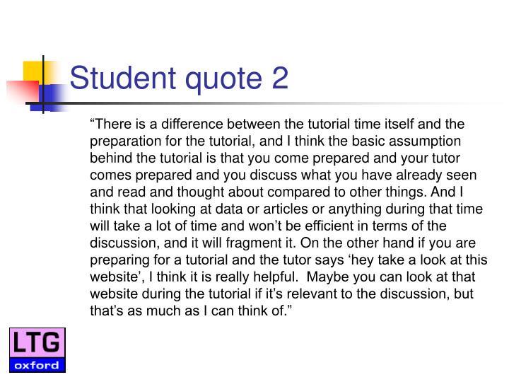 Student quote 2
