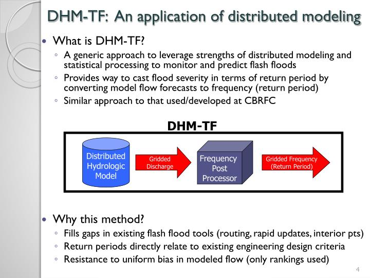 DHM-TF:  An application of distributed modeling