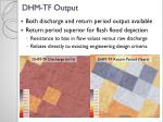 dhm tf output