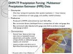 dhm tf precipitation forcing multisensor precipitation estimator mpe data