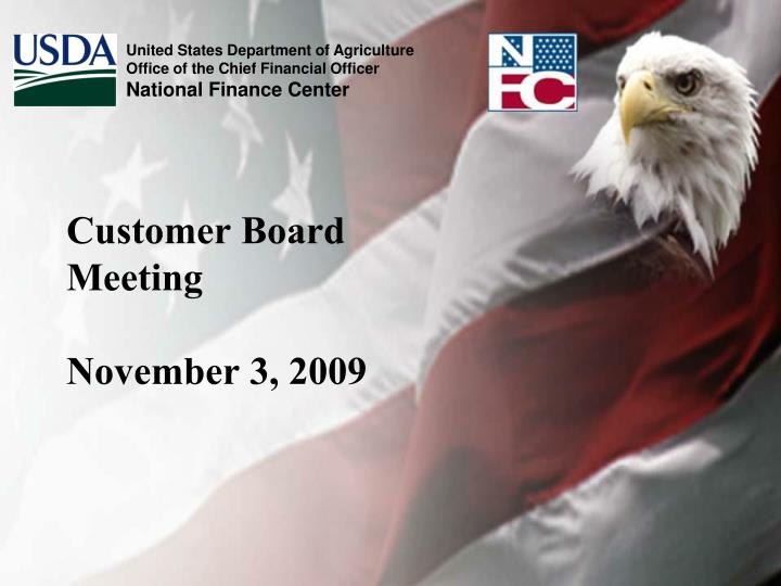 Customer board meeting november 3 2009