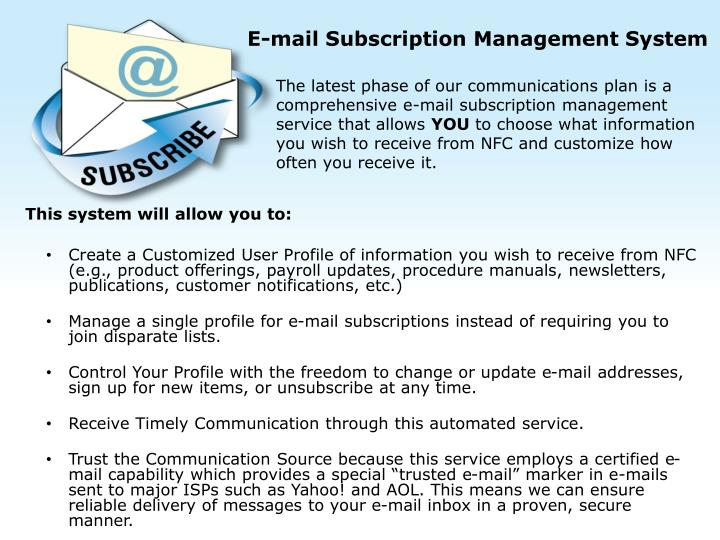 E-mail Subscription Management System