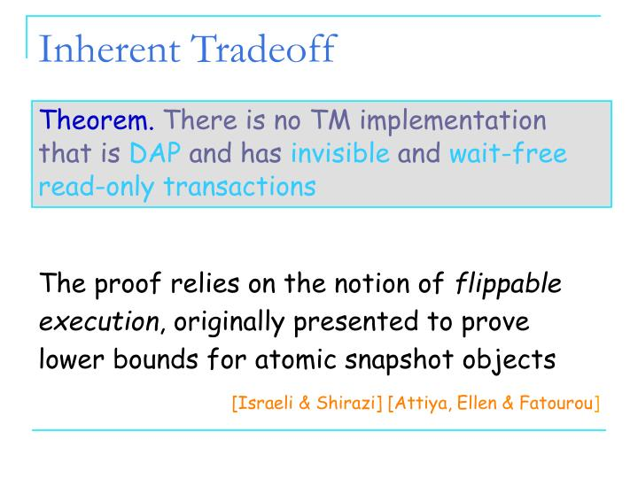 Inherent Tradeoff