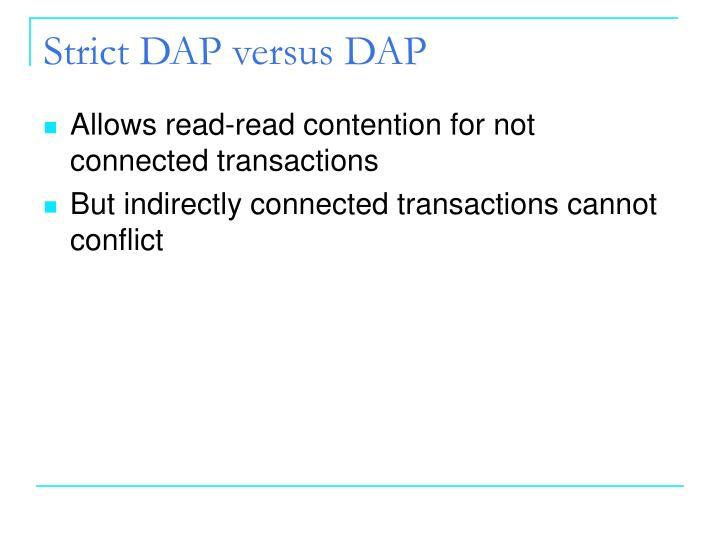 Strict DAP versus DAP