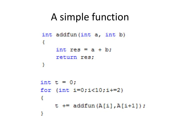 A simple function