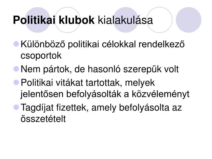 Politikai klubok