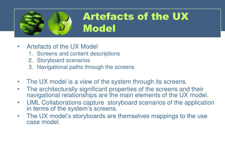 Artefacts of the UX Model