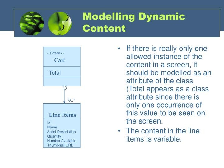 Modelling Dynamic Content