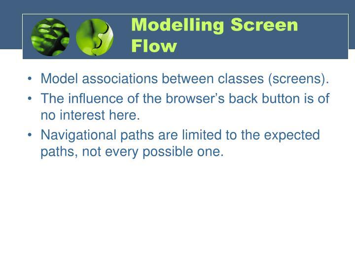 Modelling Screen Flow