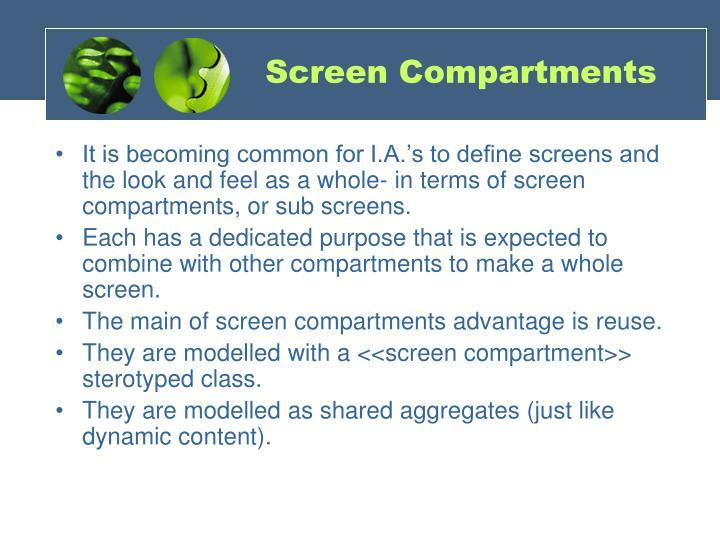 Screen Compartments