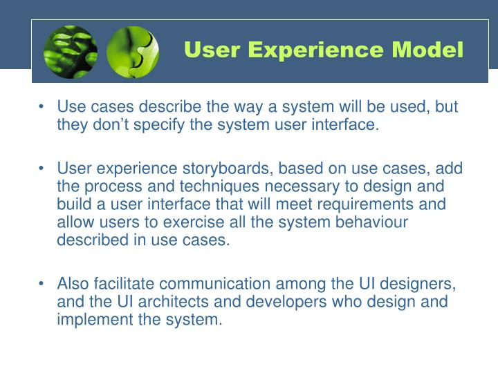 User experience model