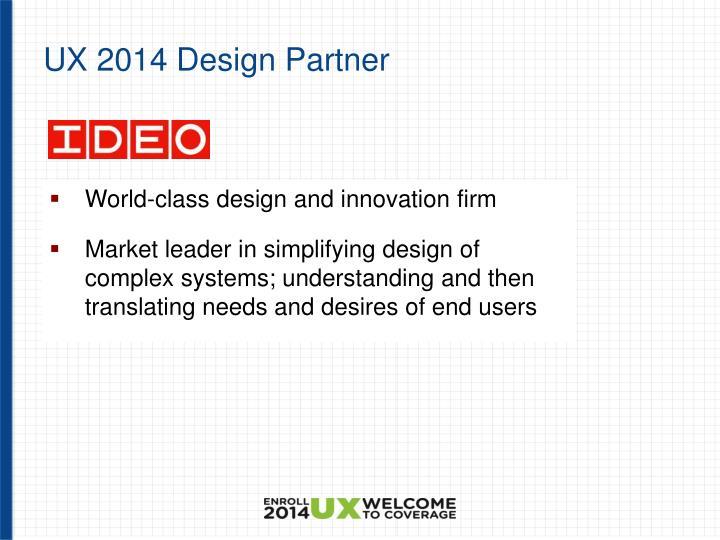UX 2014 Design Partner