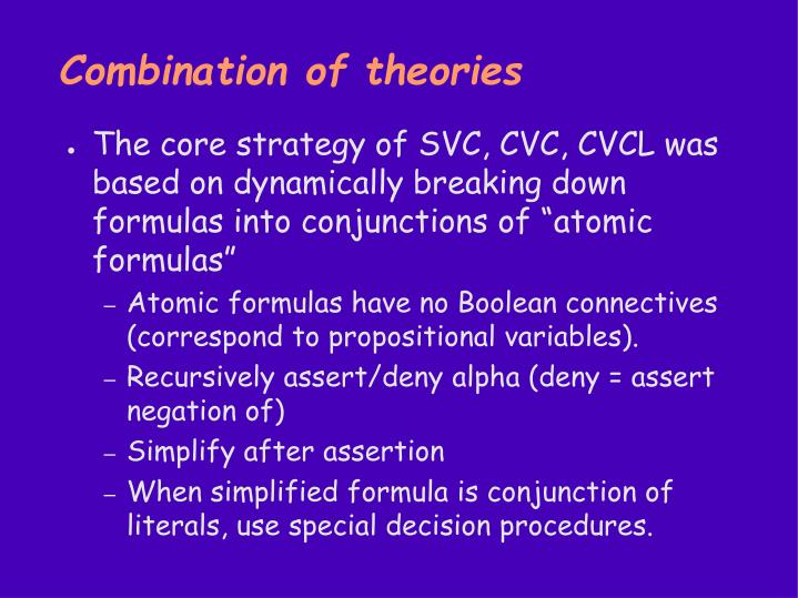 Combination of theories