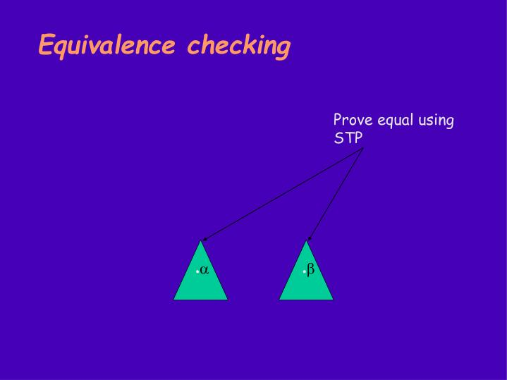 Equivalence checking