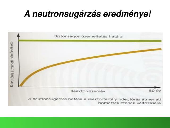 A neutronsugárzás eredménye!