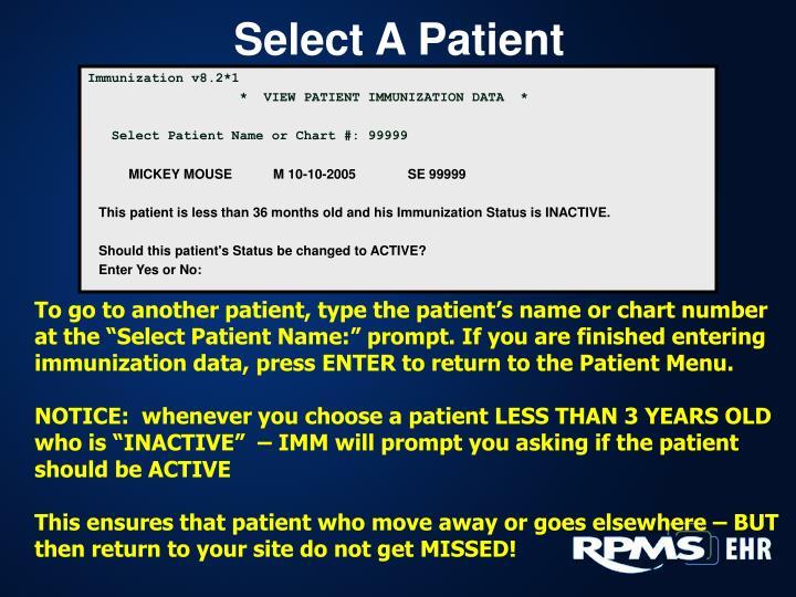 Select A Patient