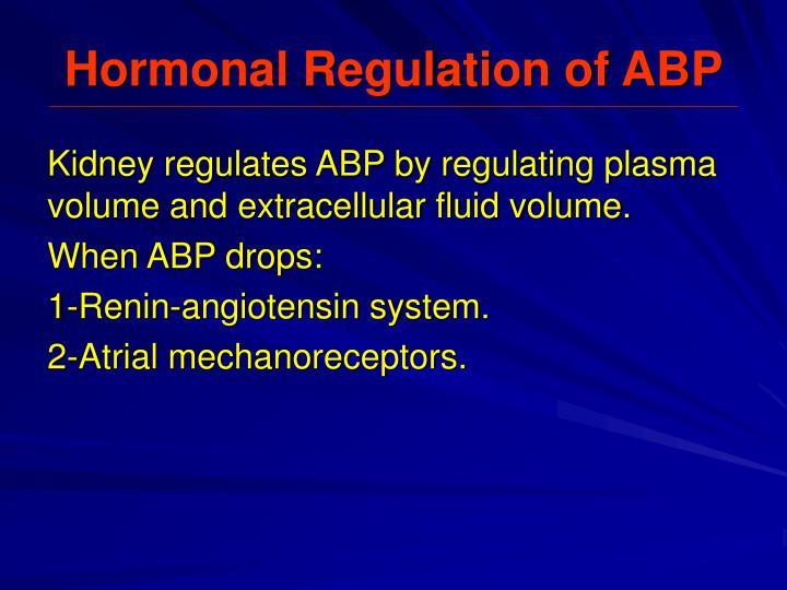 Hormonal Regulation of ABP