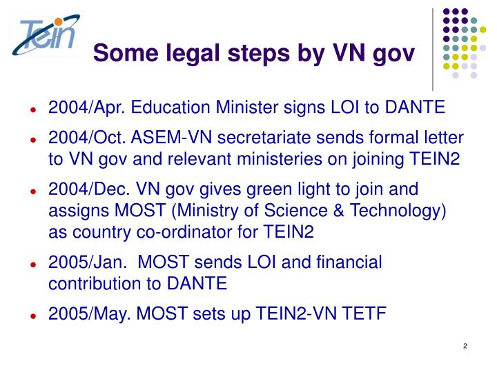 Some legal steps by vn gov