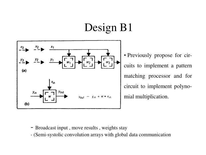 Design B1