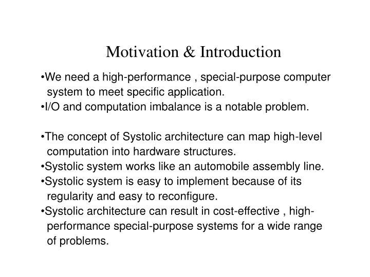 Motivation & Introduction