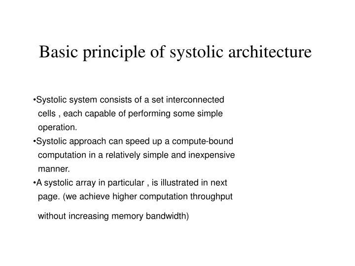 Basic principle of systolic architecture