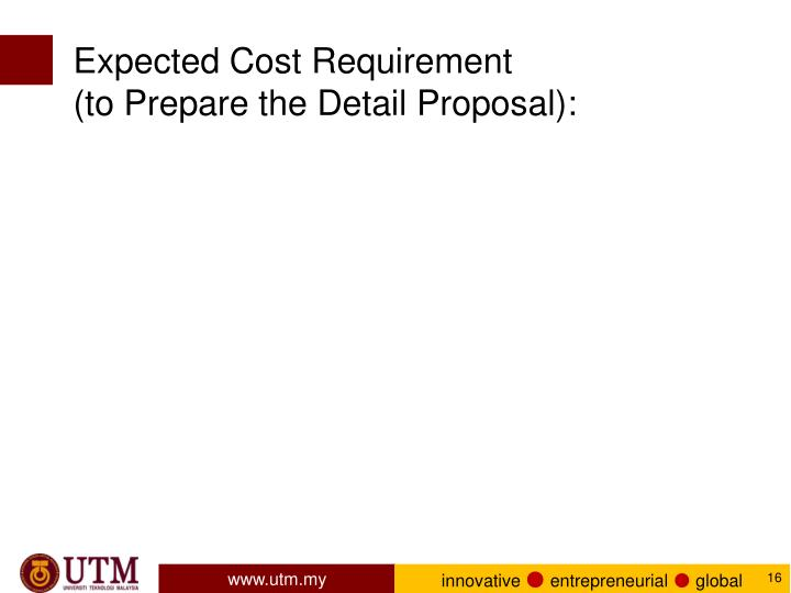 Expected Cost Requirement