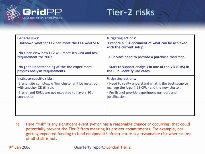 Tier-2 risks