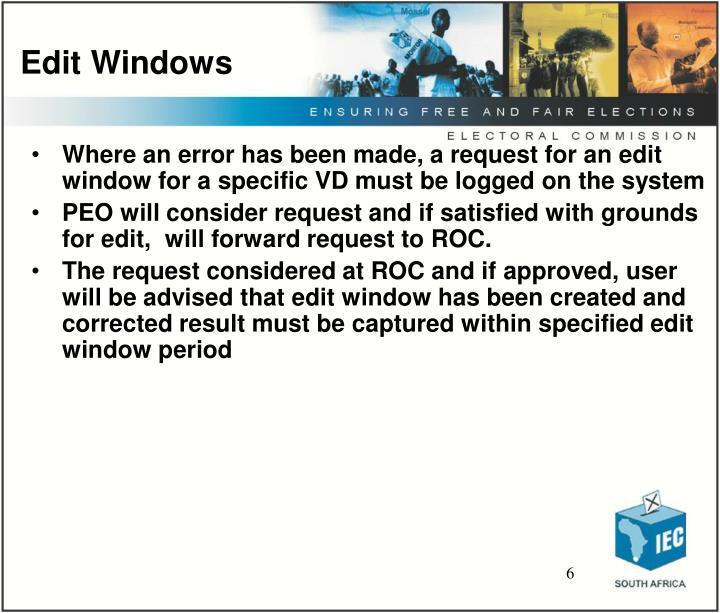 Edit Windows