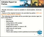 editable report for parties