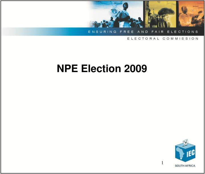 Npe election 2009